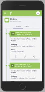 Iphone bericht donaties