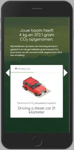 Iphone bericht CO2 opname