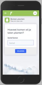 Iphone bericht bomen planten